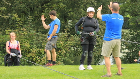 Abseiling for charity